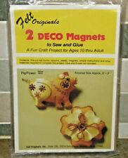 NOS Vintage Felt Originals Deco Sew Sequin Applique MAGNETS 2 Piece Craft Kit