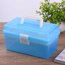 Utility Nail Tools Box 2 Layer Plastic Nail Art Box Storage Case Manicure Kit