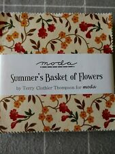 Moda Summer's Basket of Flowers charms 40 5-inch squares quilting, collectible