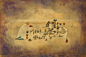 All Souls Picture by Paul Klee 1921 60cm x 39.7cm High Quality Art Print