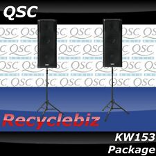 QSC KW153 Package w/ TS-100B Air Powered Speaker Stands