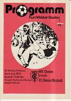 OL 78/79 HFC Chemie - FC Hansa Rostock
