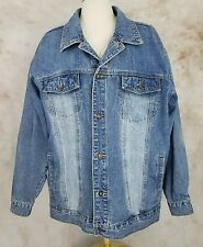 PJ Mark Mend Long Sleeve Blue Denim Jacket Size 3XL