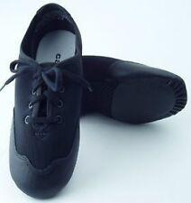 Theatricals J001B  Size 3.5M Black Split Sole Lace Up Jazz Shoe fits childs 1
