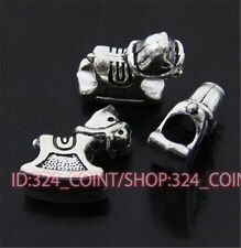 P406 8pc Tibetan Silver Charm horse Spacer Beads accessories wholesale