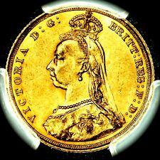 Rarity 4 1890 S Victoria Australia Sydney Mint Gold Sovereign PCGS AU55