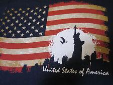 Rare Crazy Shirts Hawaii New York USA American Flag statue Of Liberty Shirt 2X