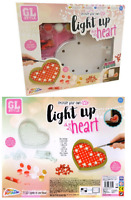 Decorate & Paint Your Own Light Up LED Hanging Heart Craft Activity Kids Set 101