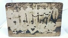 Vintage Antique Postcard Unknown Cricket Team c1910