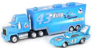 Cars 3 Toys#43  Cal Weathers Mack Hauler Truck & Racer Metal Toy Car 1:55 Loose