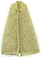 Vintage 1970s Topper Dawn Gold Cape All That Glitters # 814 EUC