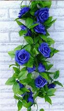 Garland Rose Silk Flowers Artificial Ivy Vine Leaf Wedding Party Home Decor
