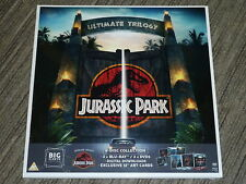 "JURASSIC PARK TRILOGY BIG SLEEVE 12"" EDITION 3 BLURAY DVD MOVIES NEW SEALED Art"