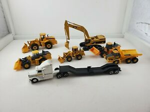 Lot Of 7 Construction John Deere 1: 64 And 1:50 Scale Loaders Excavator Toys