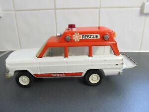 Rare Tonka Rescue Jeep Station Wagon Rescue Ambulance 23cms 1970's LOFT FIND