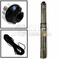 """Deep Well Submersible Pump 1/2 HP 220V 60 Hz 25 GPM 150' Head Stainless Steel 4"""""""