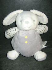 peluche doudou lapin grelot blanc gris étoile obaibi