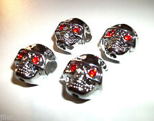 NEW 4 KNOBS METAL SKULL argent - bouton pour guitare