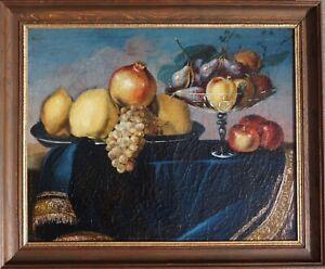 Früchtestilleben, 18 Jhdt, Öl auf Leinen, gerahmt, Weintraube