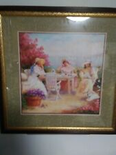 * Look *Vintage Home Interiors Homco Picture by D. Giacomo 3 Ladies Boats Ocean