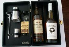 Portable Travel -L-Bar Mini Bar Carry Case w/2-Bottle Slots Cocktail Set