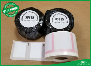 12 Rolls of 30915 Dymo® Compatible Twin Turbo 400, Duo White Thermal Mail Labels
