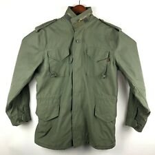 Alpha Industries Military Cold Weather Field Coat Jacket Mens Small Green NWOT
