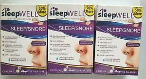 3 x Sleepwell SLEEP/SNORE Calming Lavender Essential Oil 18 dilators ea