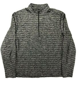 Lululemon Women's Large Run Your Heart Out Black Gray Quarter Zip Pullover