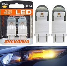 Sylvania ZEVO LED Light 3156 Amber Orange Two Bulbs Back Up Reverse Replace JDM