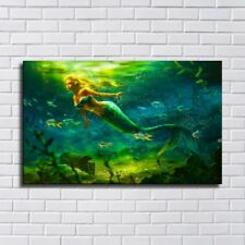 """14""""x22""""Mermaid Fantasy Painting HD Canvas Print  Home Decor Wall Art Picture"""