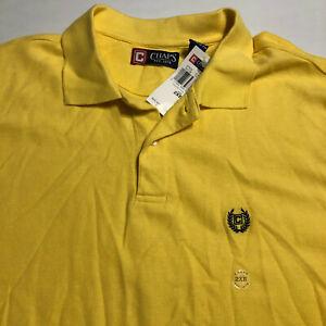 Chaps Mens NWT Polo Yellow Shirt Size 2XB Short Sleeve Cotton