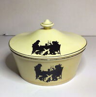 Pantry Bak In By Ware Crooksville Silhouette Round Covered Casserole Dish Vtg