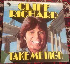 CLIFF RICHARD Take Me High FILM SOUNDTRACK 1973 UK EMI STEREO VINYL LP + POSTER