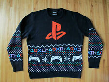 Licensed PLAYSTATION Christmas Sweater sz L rare authentic video game gamer