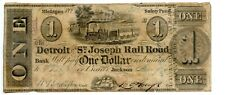 1840.   $1  Jackson, Michigan  Railroad Bank.