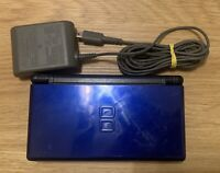 Nintendo DS Lite Cobalt/Black Console With Charger TESTED WORKS