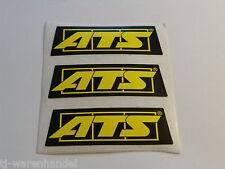 Original ATS Einzel Sticker Aufkleber Emblem Motorsport Formel NOS 66x22,5mm