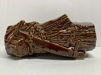 Vintage Brown Log & Axe McCoy Art Pottery Planter USA
