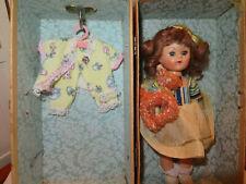 "Vintage Hard Plastic Pam Joanie Walker Puppet Party Doll 8""-case Ginny Friend"