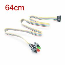 ATX PC Compute Motherboard Power Cable 2 Switch On/Off/Reset w/LED Light 64cm