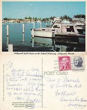 1960's HOLLYWOOD YACHT BASIN FLORIDA UNITED STATES COLOUR POSTCARD
