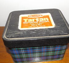 Arnotts Tartan Biscuit Tin Hunting Rose 500gm Empty with Sticker