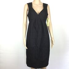 Veronika Maine Black Dress Work or Cocktail Size 10 European Fabric NWT (AJ11)