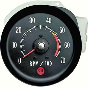 1971-72 Chevrolet Chevelle, Monte Carlo, El Camino Tachometer 5000 RPM Red Line