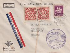 Cover Flight Suriname 5-9-1939 to Curacao KLM