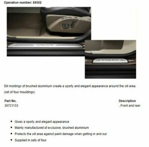 Genuine Volvo Bright Sill Moulding Kit XC60 2014 - 2017 30721133