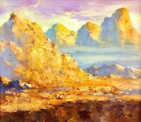 painting art decor landscape old mountains Valery Siurha Impressionism