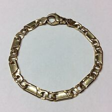 14K YELLOW GOLD MENS BRACELET