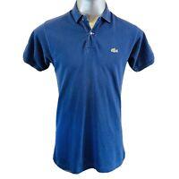 Lacoste Chemise Devanlay Polo T Shirt  Mens  Size 4 M Medium Blue Cotton Top